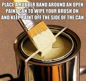 Rubber band on Paint Can
