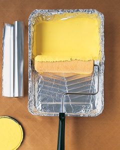 Tin Foil on Paint Trays